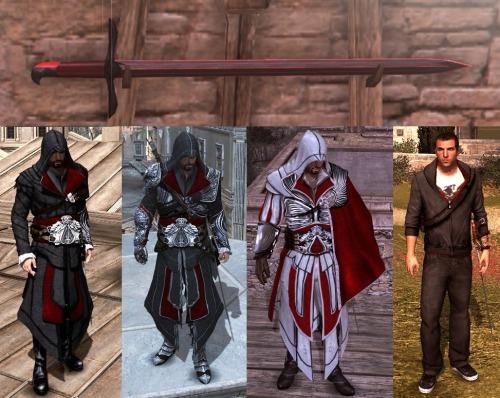 Assassin's creed brotherhood какие костюмы у клана ассасинов.