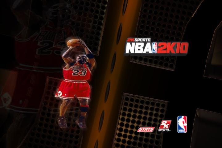 NBA 2K10 Загрузочный экран с Джорданом .
