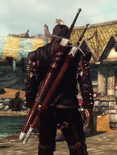 Скачать мод на скайрим на оружие из ведьмака