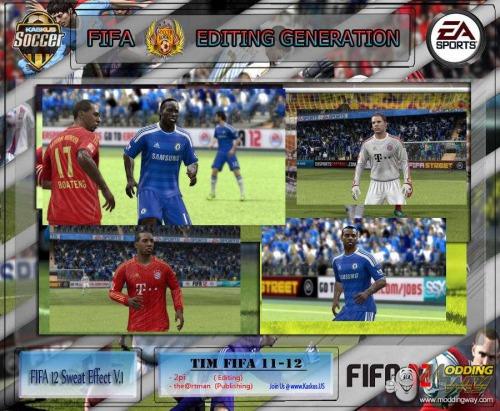 Патч добавит эффект пота на лица, руки и ноги игроков в FIFA 12. 2. Запуст