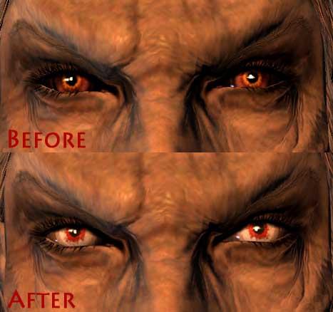 Skyrim Моды Вампирские глаза