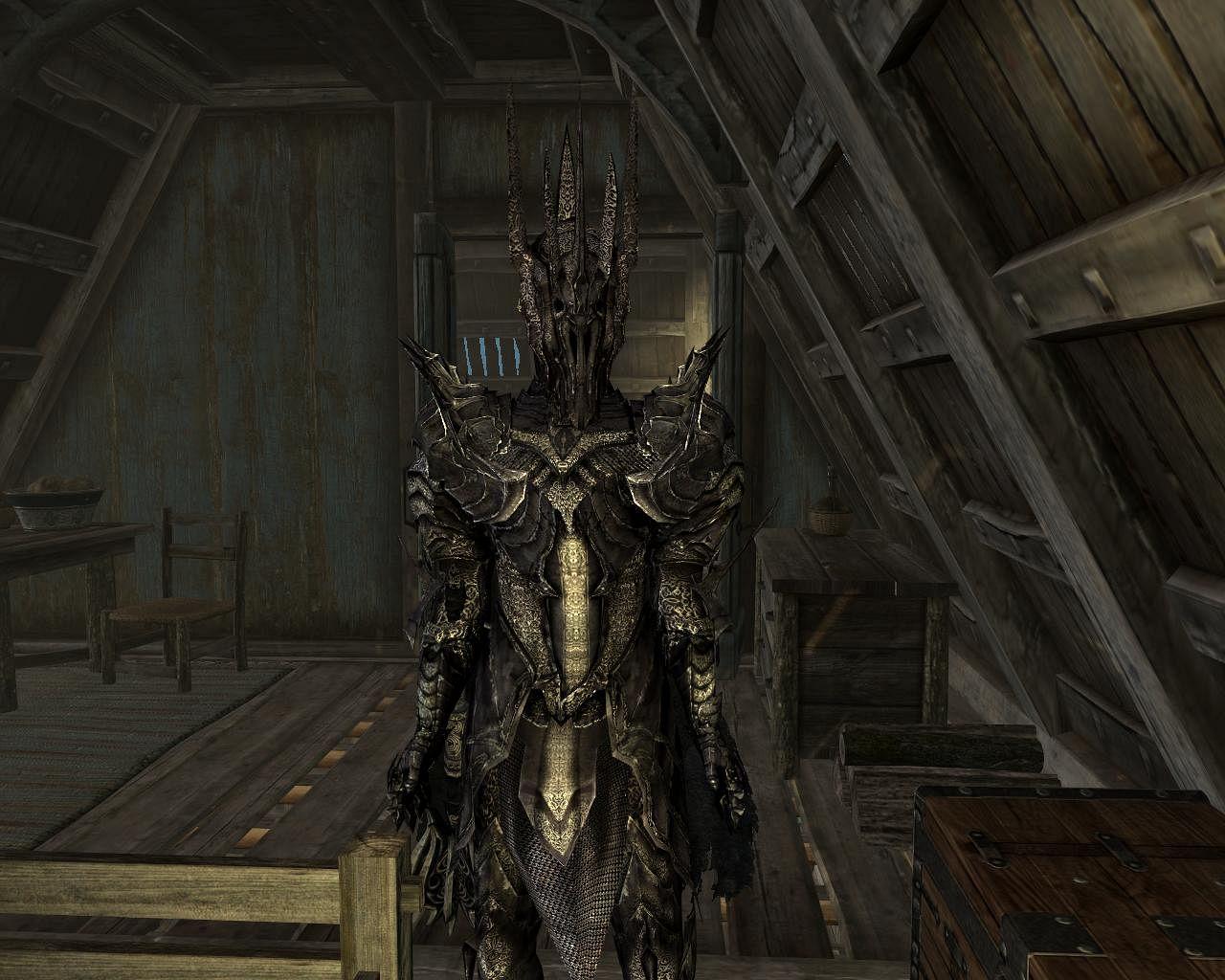 Skyrim mod: доспехи саурона / shadow of mordor sauron's armor.
