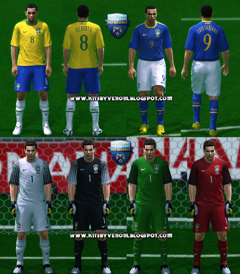 "Pes 2010 Demo: PES 2010 ""Brazil 09-11 Kit Set By Venom Tf"""