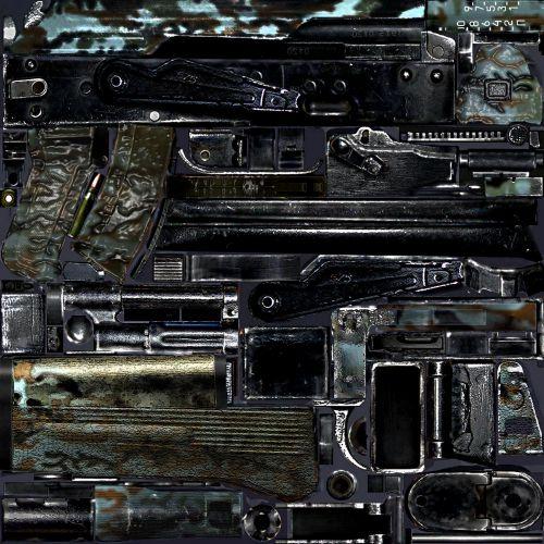 Как заменить текстуры оружия в сталкер зов припяти