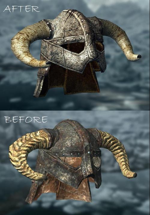 Как сделать шлем довакина из скайрима