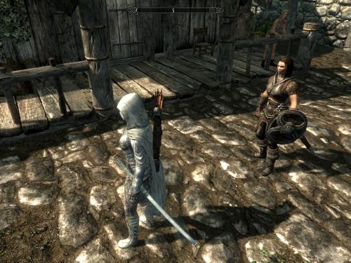 "TES 5: Skyrim ""Белые лук, меч и колчан"" - Файлы - патч ..."