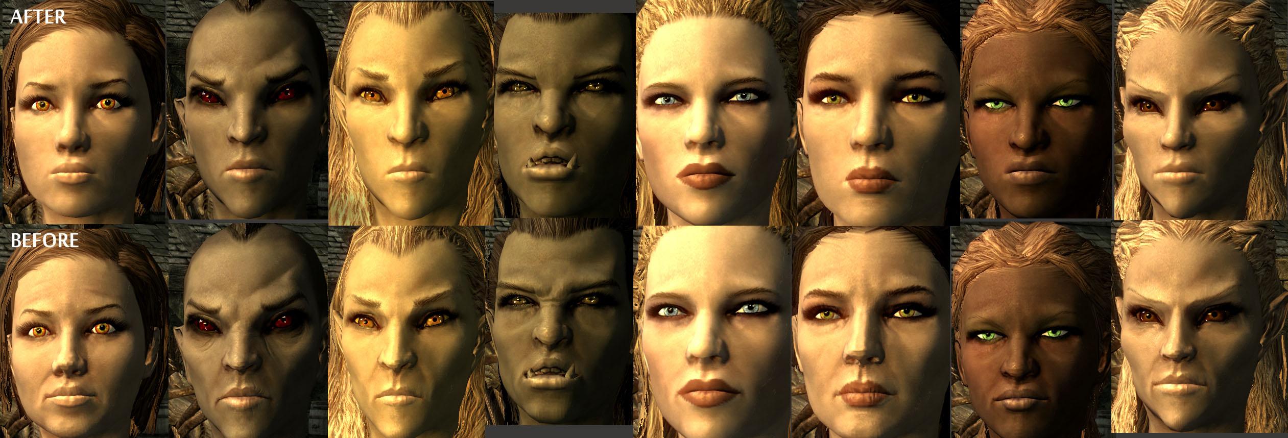 Как сделать свое лицо для skyrim 99