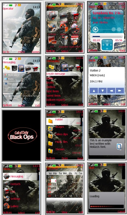 Тема Call Of Duty: Black Ops для s40 Nokia— скачать бесплатно