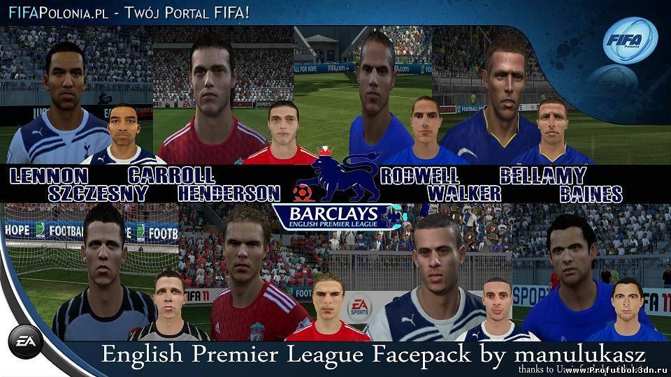 Патч обновит лица игроков Английской Премьер Лиги, а именно: Jack Rodwell,