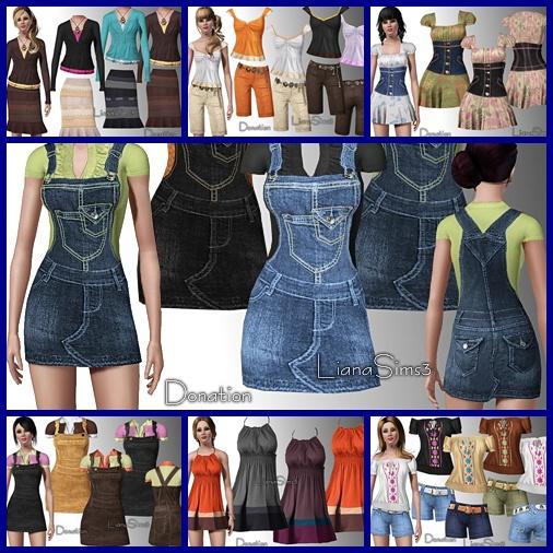 Наборы секси одежды для симс 3