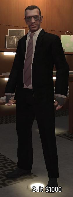 Grand Theft Auto 4. У Нико открыты сразу все костюмы,я имею в веду...