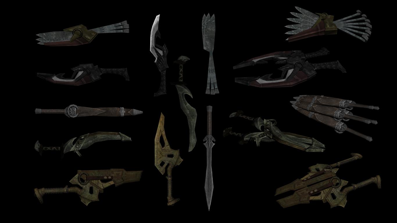 Мод на скайрим на метательные ножи скачать