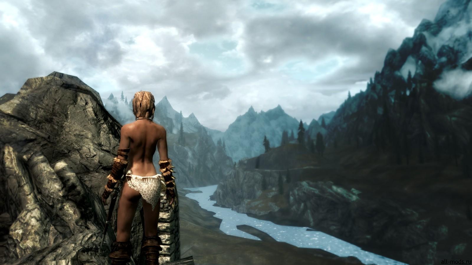 Skyrim мод сексульная броня
