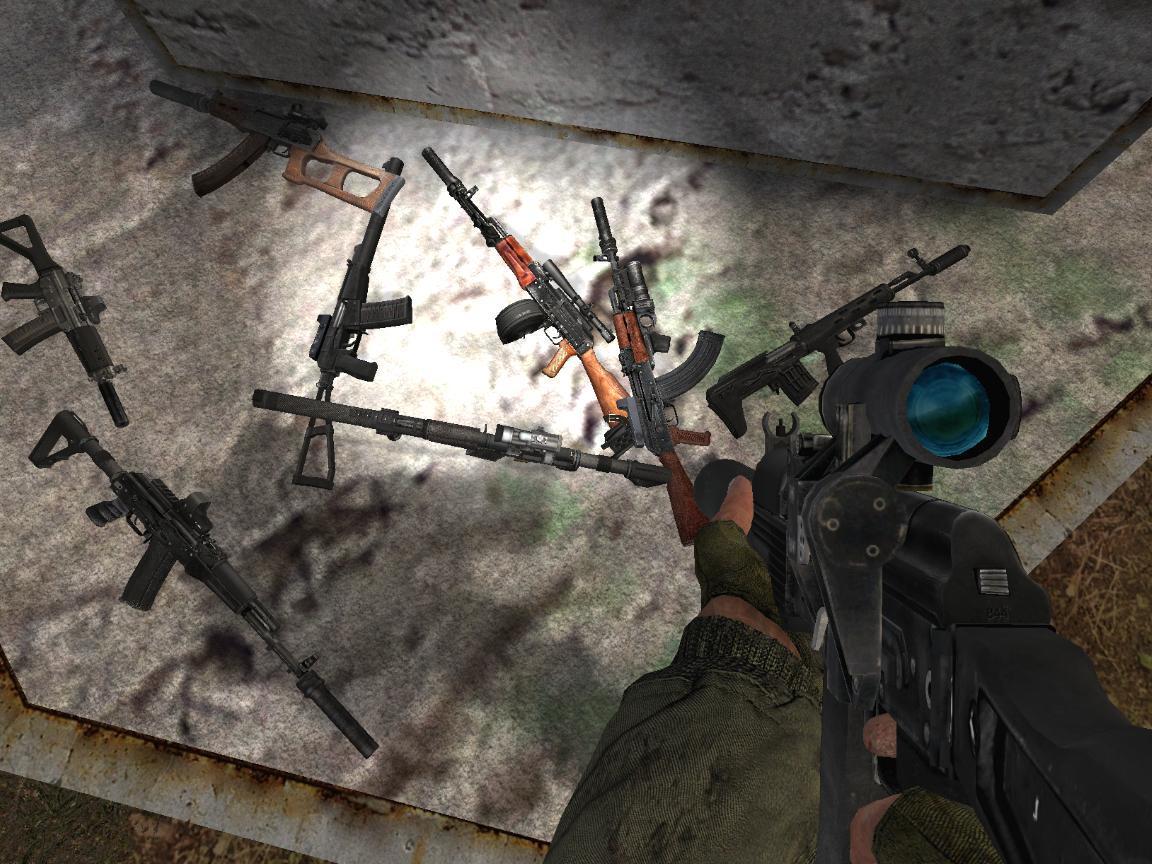 сталкер тень чернобыля народная солянка оружейный пак скачать