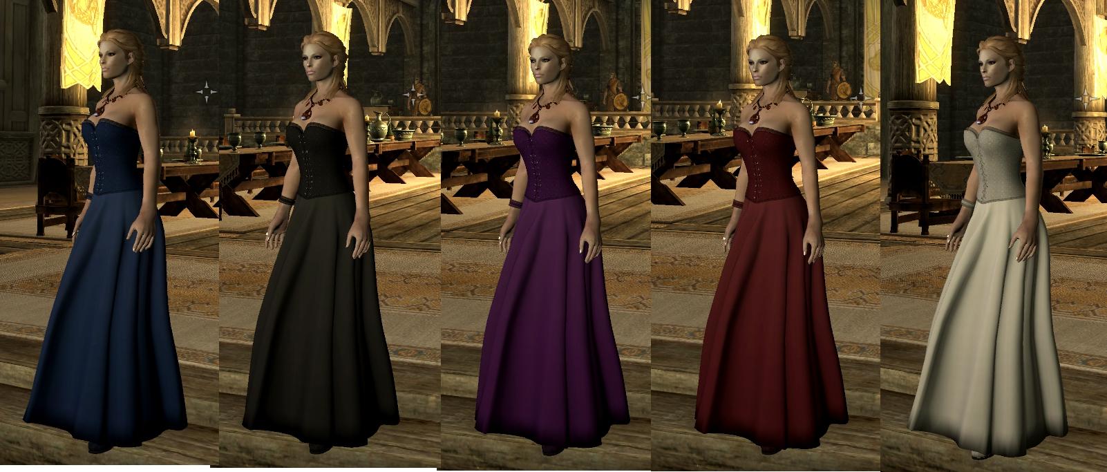 Скачать мод для скайрима на платья