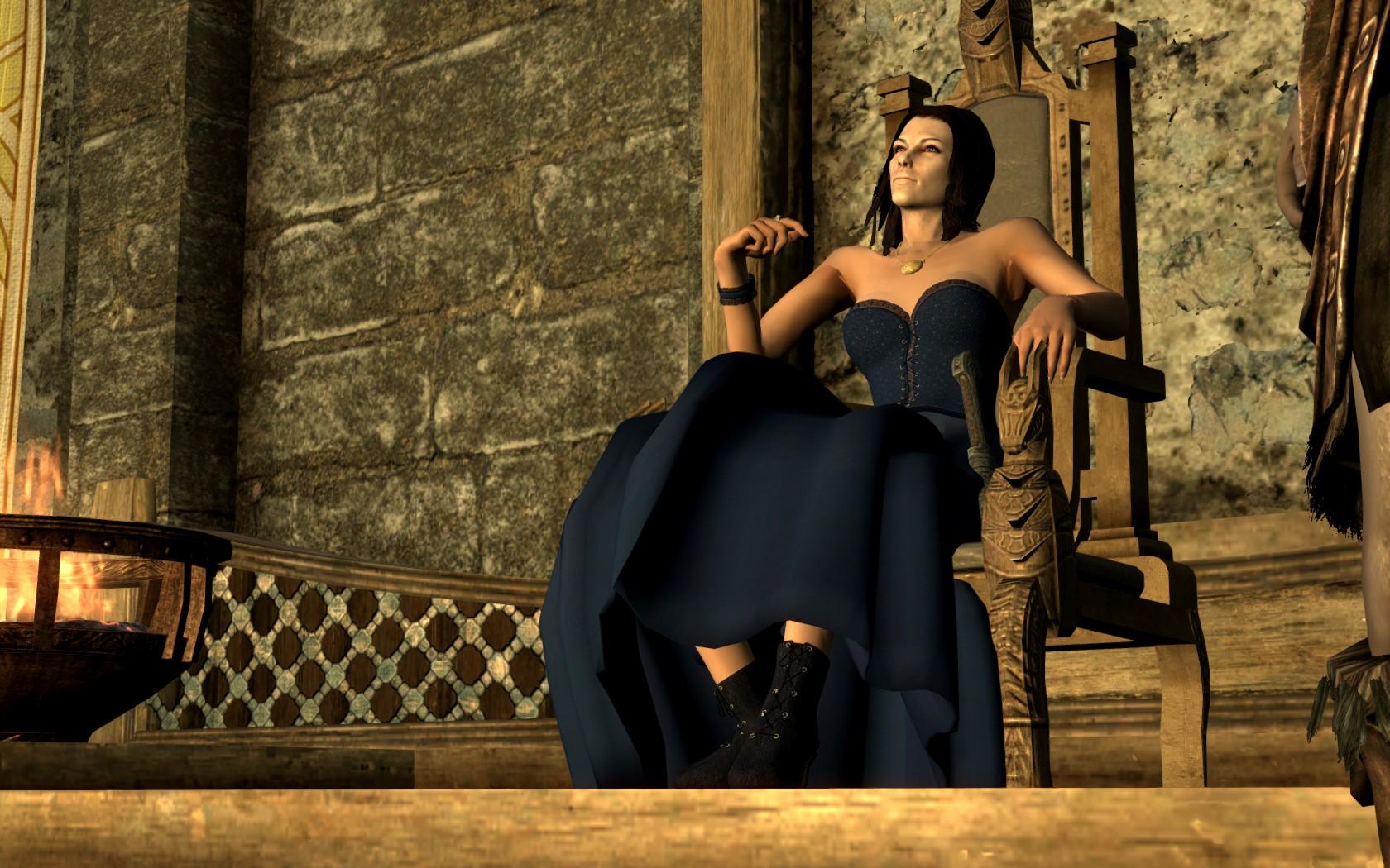 Короткие платья skyrim