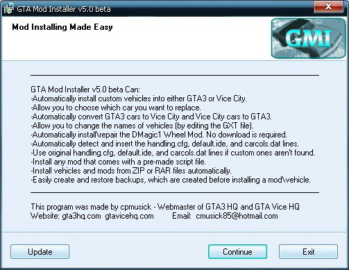 gta vice city mod installer gmi download