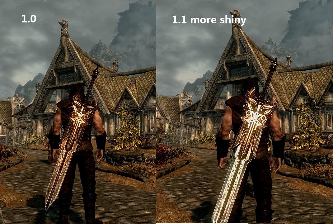 Скачать мод на большие мечи