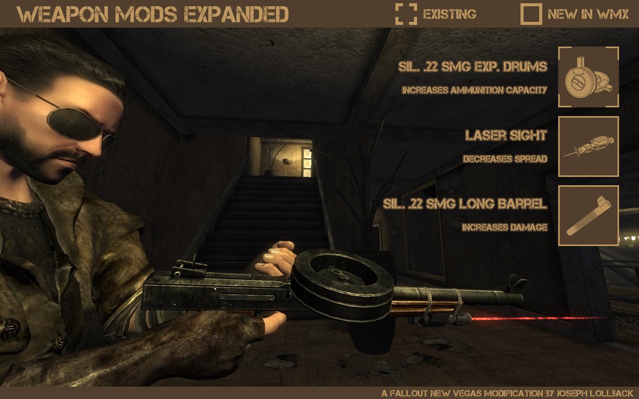 Скачать мод weapon mods expanded на fallout new vegas
