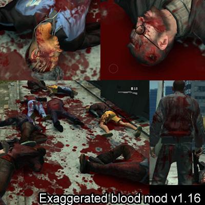 Скачать мод на кровь на гта 4