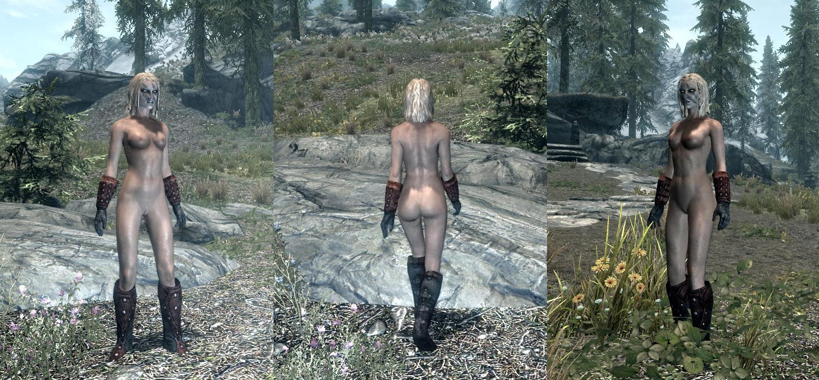 скайрим мод на голые тела