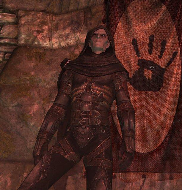 Скачать Ретекстур Брони Темного Братства для Скайрим