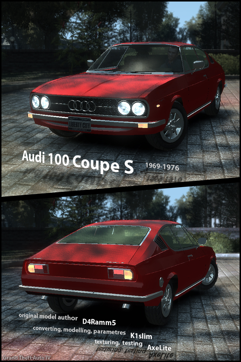 "GTA 4 ""Audi 100 Coupe S"""