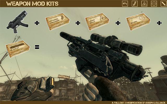 скачать мод weapon mod kits для fallout 3