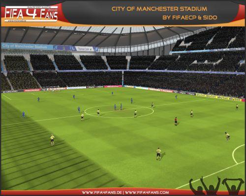 Первый полностью новый стадион для FIFA 10 - City of Manchester.