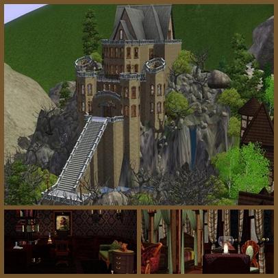 Замок в симс 3 пошагово