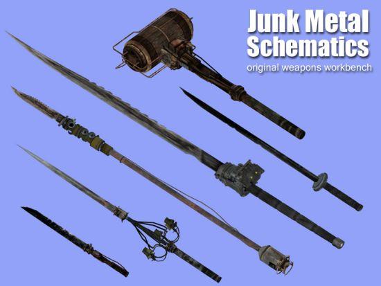 Fallout 3 новое холодное оружие и схемы