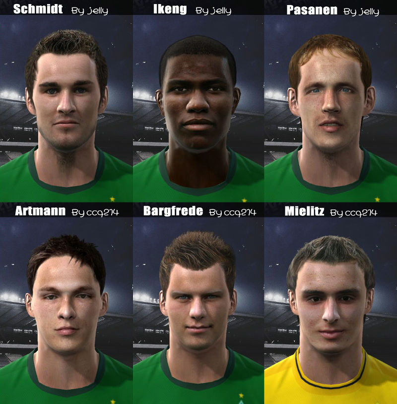 "Pes 2010 Demo: PES 2010 ""Bremen Facepack By Jelly & Ccq214"""