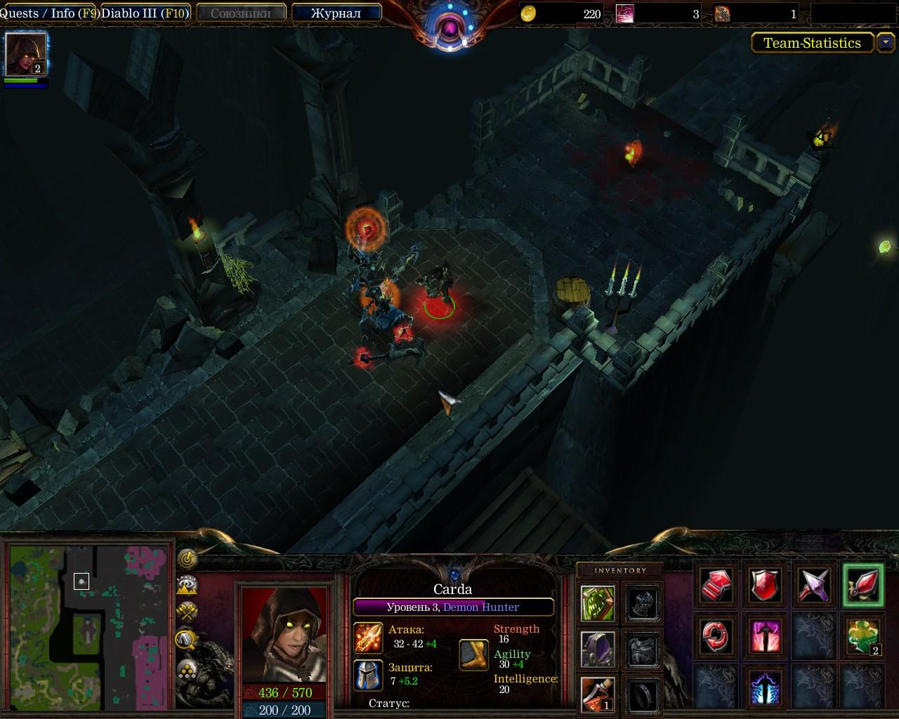 Скачать Warcraft 3 TFT Diablo III: New Tristram/Карта для WarCr
