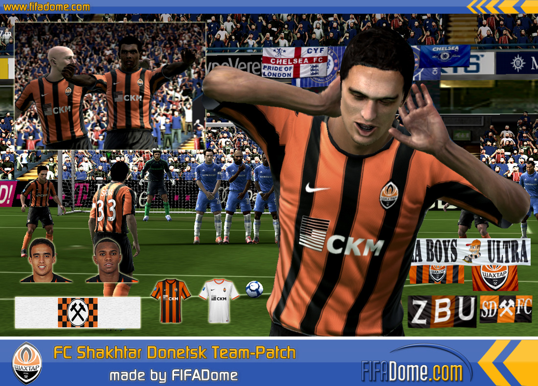 Команды для fifa 10, составы. Shakhtar Donieck Team Patch by FIFA