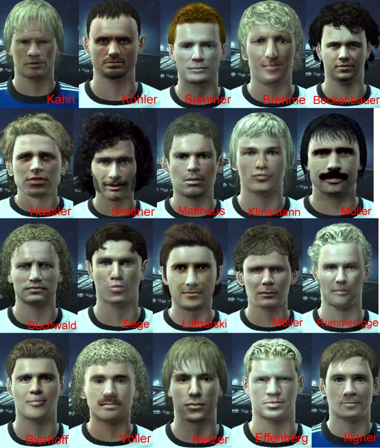 "Pes 2010 Demo: PES 2010 ""Classic Germany Facepack By Vanderger"""